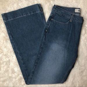 GAP Wide Leg High Rise Light Wash Jeans Size 12